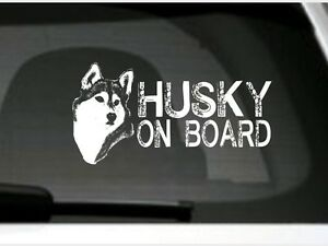 Husky On Board Car Sticker Sign High Detail Great Gift For Dog