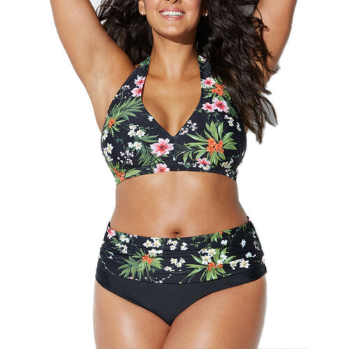 Women/'s High Waisted Padded Bikini Set SWIMWEAR Swimsuit Bathing Suit PLUS SIZE