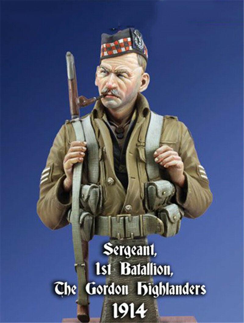 1  10 Gordon infantry Regemänt Sergeant hkonsts busst modelllllerler Kits Obästeämd GK