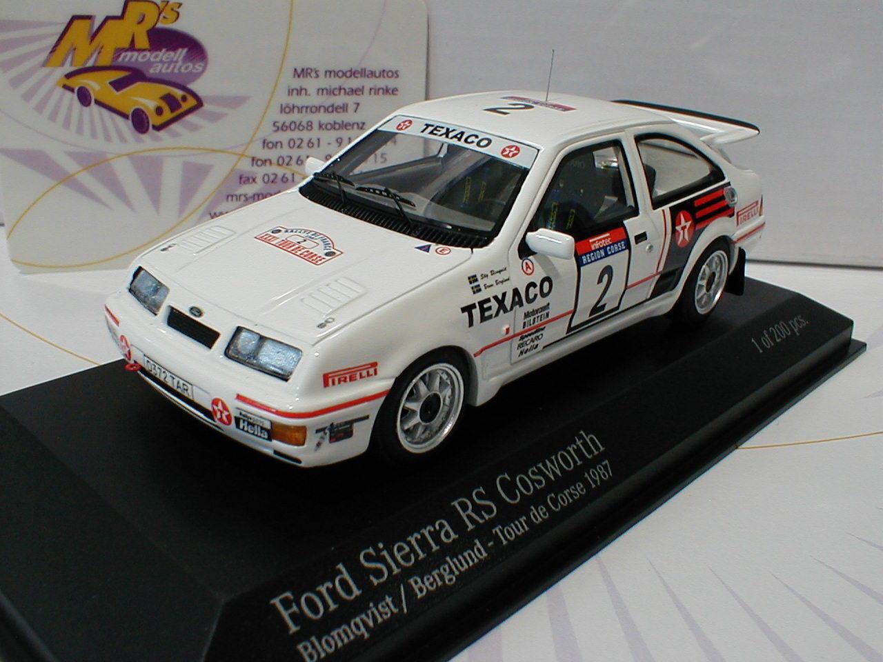 Minichamps 437878002   Ford sierra rs cosworth tour de Corse 1987 Blomqvist 1 43