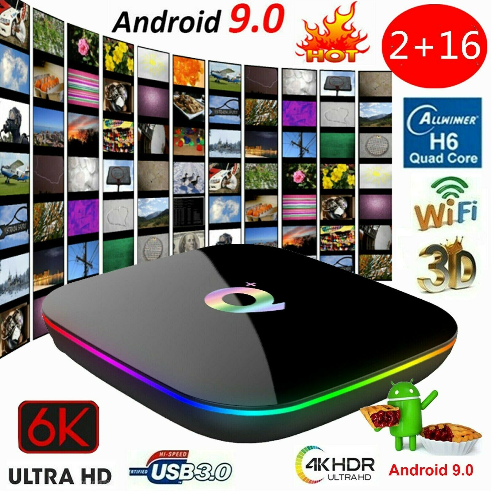 Q Plus Smart TV Box Android 9.0 2GB / 16GB 6K Media Player 2.4G Set Top Box N9A3 Featured