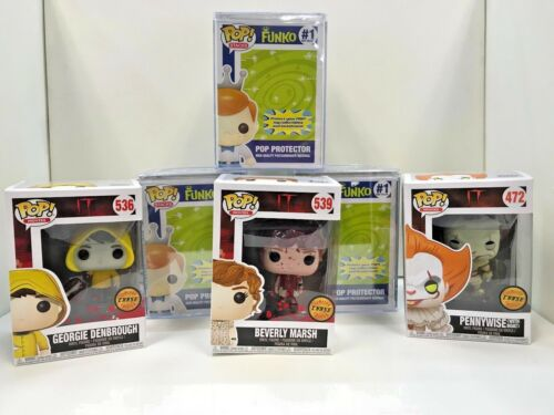 MOVIES IT PENNYWISE WITH BOAT CHASE RARE MINT PLUS 2 MORE CHASE FUNKO POP