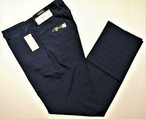 LAUREN-Ralph-Lauren-size-32x32-men-039-s-classic-windowpane-dress-pants-navy-blue