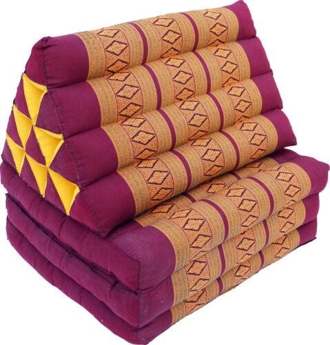 Tagesbett mit 3 Auflagen Thaikissen // Kapokkissen Kapok dun Dreieckskissen