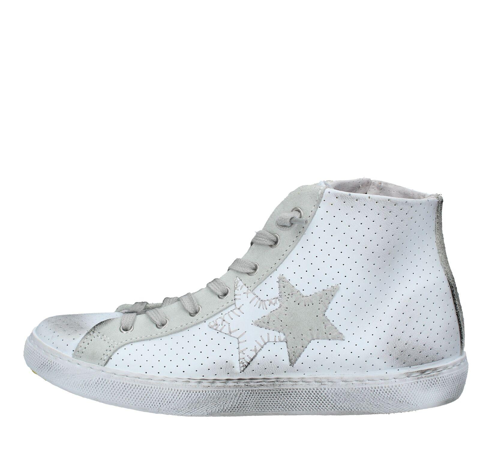 AMF78_2STA Scarpe scarpe da ginnastica 2STAR uomo Bianco | Forte valore  | Scolaro/Ragazze Scarpa
