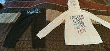 NEW Victoria Secret size Med lot Yoga Pants & Angels Have More Fun Hoodie Small