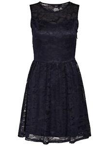 Only Damen Spitzen Kleid OnlDicte Lage S/L Dress Sommer ...