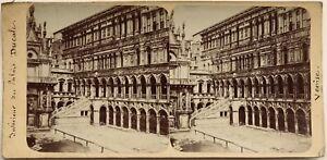 Venezia-Palais-Ducale-Interno-Italia-Fotografia-Stereo-Vintage-Albumina-c1880