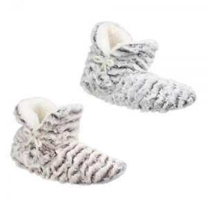 Divaz PARIS Ladies Womens Comfort Faux Fur Warm Lined Fluffy Cosy Boot Slippers