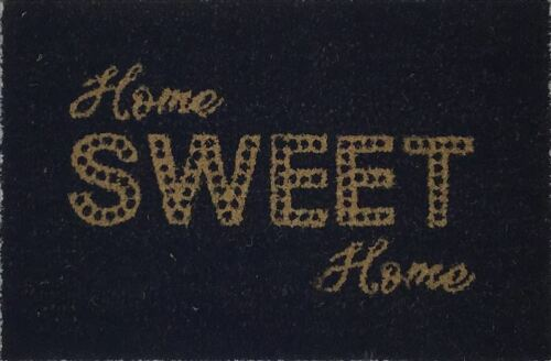 Natural Doormat Home Sweet Home Front Door Welcome Mat Coconut Fiber Rubber 60CM