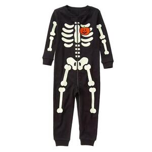 dc8102d13 Image is loading NWT-Gymboree-Glow-in-the-Dark-Halloween-SKELETON-