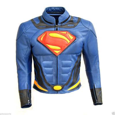SUPERMAN Leather Jacket Motorcycle Leather Jacket Sports Motorbike Biker Jackets
