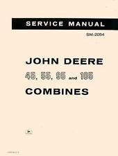 John Deere 45 55 95 105 Combine Service Manual Sm 2054