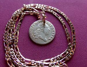 foto de 1701 UK 1/2 Guinea George III Gaming Token Pendant on a 24