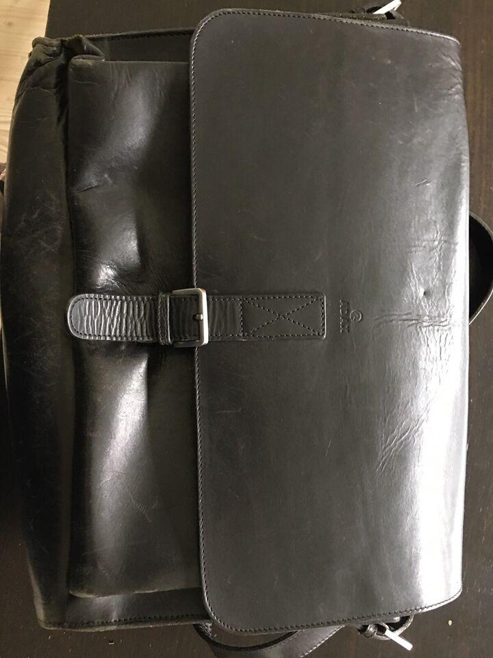 Skuldertaske, Adax, læder