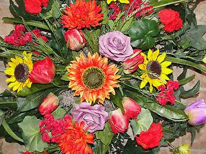 Harvest-Fall-Summer-Headstone-Memorial-Cemetery-Grave-Pillow-Silk-Sympathy-Spray