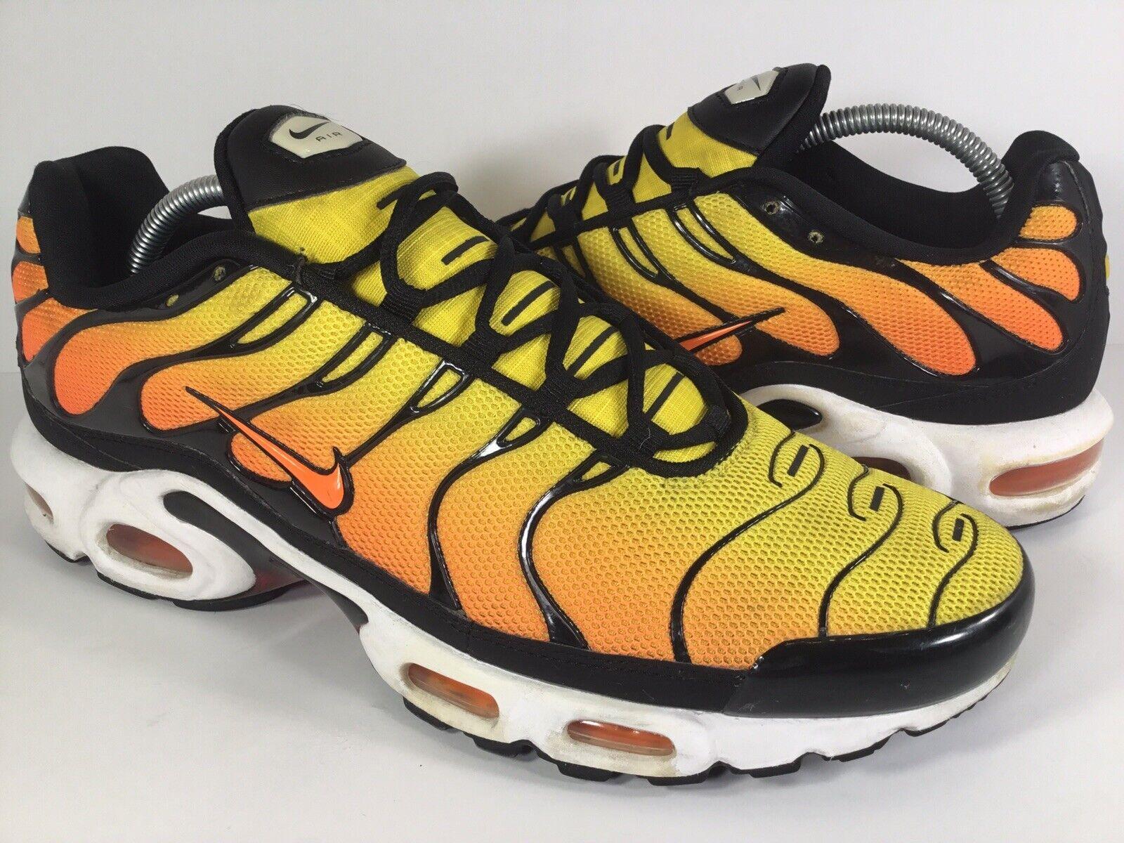 détaillant en ligne c0768 d4ebb Nike Air Plus Tn jaune soleil noir blanc 2014 Homme Taille ...