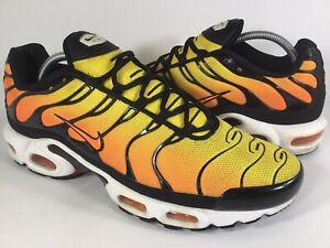 Details about Nike Air Max Plus Tn Sunset Yellow Black Orange White 2014 Mens Size 11 Rare