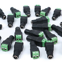 20x 2.1x5.5mm Dc Power Female Plug Adapter Connector Socket For Cctv / Led Strip