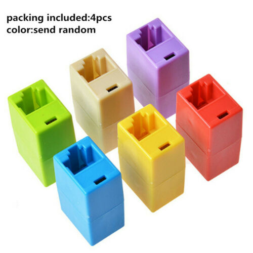 4x Coupler Extension Connector RJ45 Lan Linking Cable Extender Network Ethernet