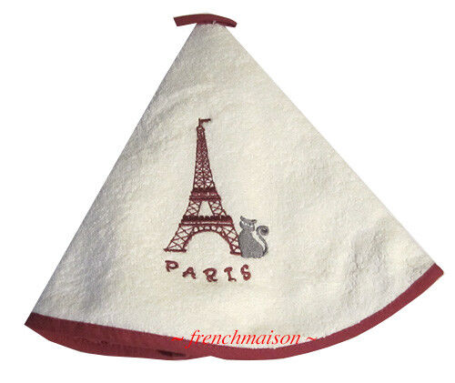 Torchons & Bouchons French Cat EIFFEL TOWER Dubout Hanging Cotton Towel Loop $22
