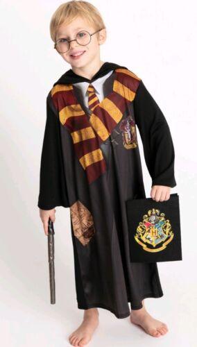 Harry Potter Black Gryffindor Costume 5-6 years *MISSING GLASSES *!!!