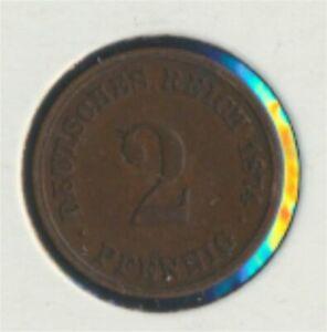 German-Empire-Jagerno-2-1874-C-very-fine-2-Pfennig-7849310