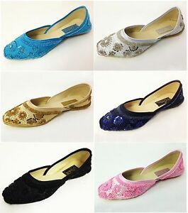 New-Women-039-s-Satin-Ballet-Flats-Sequins-Beads-Fashion-Slip-on-Shoes-Colors-Sizes