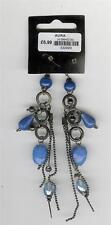 BLUE DROP EAR RINGS (FJ10)