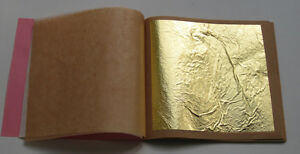 25-Sheets-Gold-Leaf-Rosenoble-Double-Gold-23-75-Carat-Loose-Gold