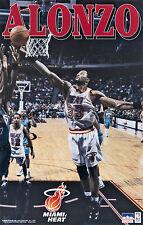 1995 Alonzo Mourning Miami Heat Original Starline Poster OOP