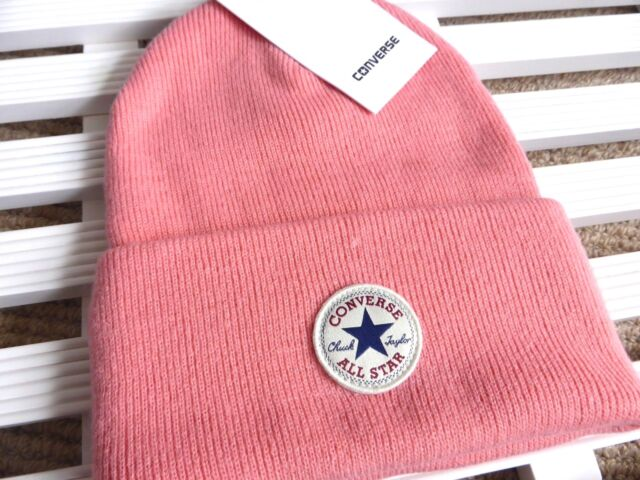 2021314d006 Converse All Star Pink Deep Cuff Beanie Hat Toque Unisex