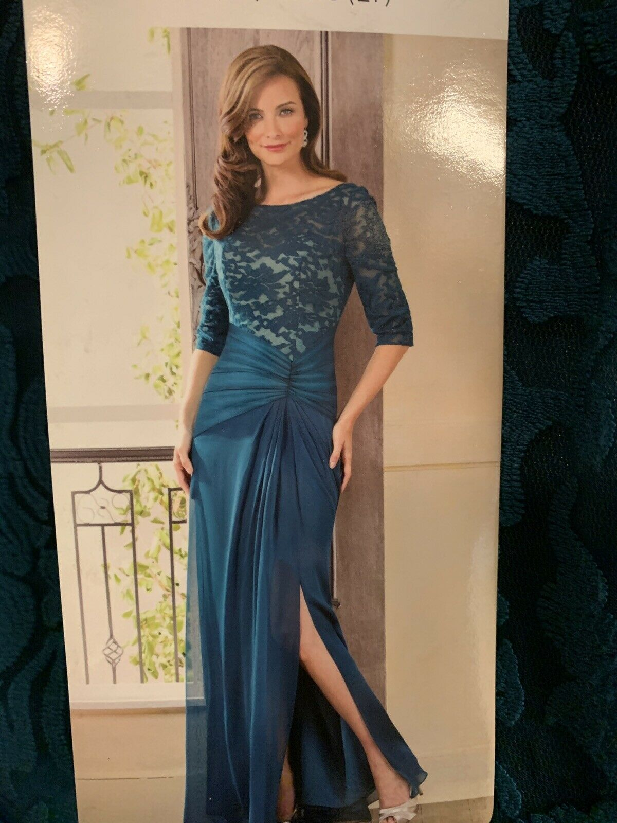 Jade By Jasmine Evening Gown Size 14 Teal