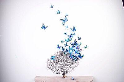3D Magnetic Blue Butterflies Wall Stickers Children's Bedroom Nursery 12 pieces