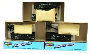 Athearn-HO-Clinchfield-34-039-Open-Top-Hopper-kit-3-Pack-NIB-Different-car-s