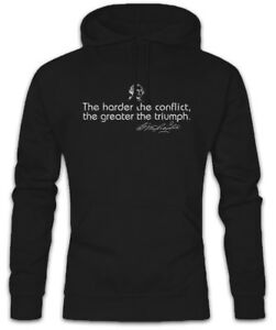 cappuccio The Hoodie con Harder Conflict Washington Conflict Quote George Felpa XUvXr