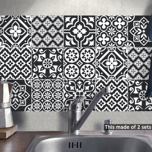 10pcs White Black Self-adhesive Bathroom Kitchen Wall Stair Floor Tile Sticker