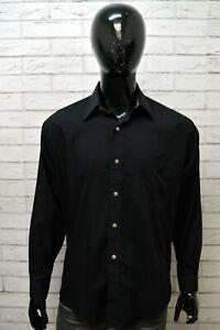 VERSACE-JEANS-COUTURE-Camicia-Uomo-Camicetta-Maglia-Taglia-XL-Shirt-Man-Casual