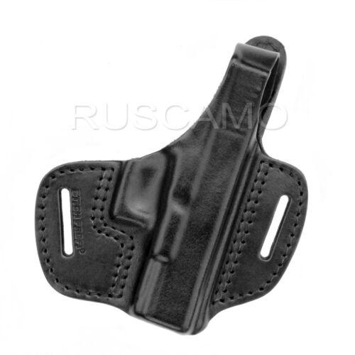 Belt Holster for Glock 19 genuine leather black