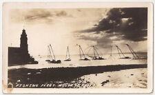 Manila PI - Fishing Fleet Mouth of Pasig River - Vintage Real Photo/Postcard