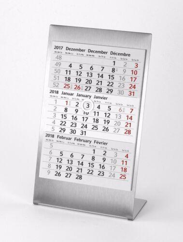 2021 Edelstahl 3-Monats-Tischkalender für 2020 Metall Typ A1