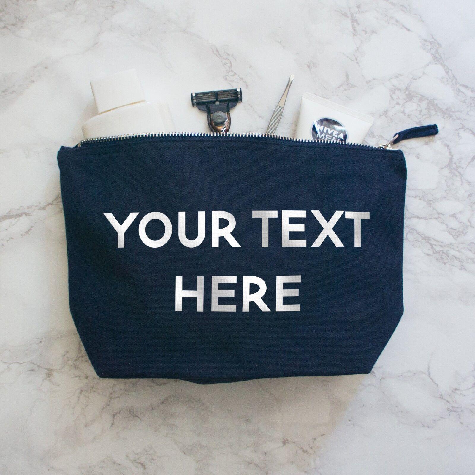 Un Texte Personnalisé Laver sac Sac, Personnalisé Make Up sac Laver avec tout texte 016c50