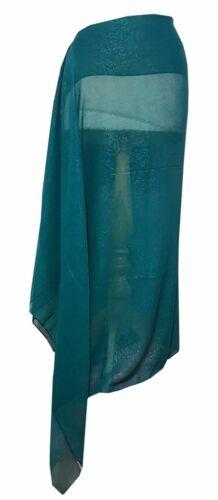 GRANDE stampa floreale georgette più taglie Sarong//sciarpa 100cm x 200cm