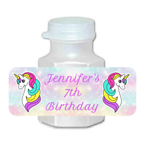 30-personalized-Unicorn-birthday-party-bubble-labels-stickers