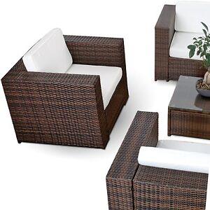 Polyrattan lounge sessel schwarz  XXL Gartenmöbel Polyrattan Lounge Sessel Lounge Stuhl Garten Sofa ...