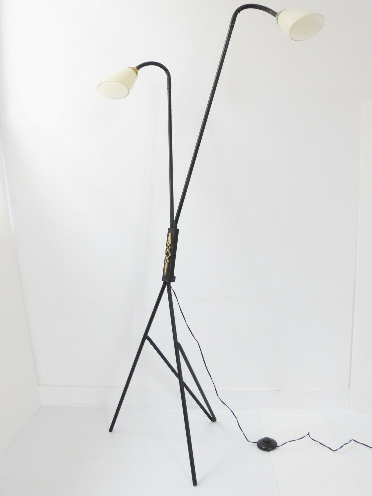 SUPERBE LAMPADAIRE LISEUSE DOUBLE 1950 VINTAGE 50S FRENCH ROCKABILLY FLOOR LAMP