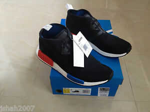 22857e8b30246 Image is loading ADIDAS-NMD-CHUKKA-C1-OG-BLACK-BLUE-RED-