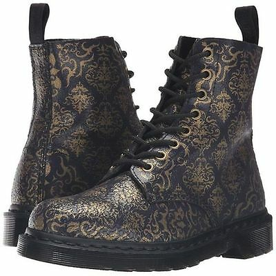 Dr. Martens Pascal BQ 8 Eye Dark Purple Gold Cristal Baroque Boots US 5 UK 3 NWT | eBay