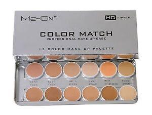 ME-ON color match professional make up base 12 color concealer palette HD finish