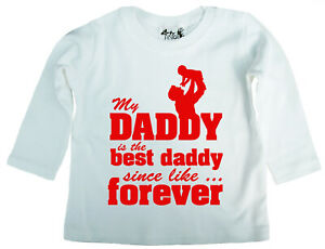 Dirty-Fingers-My-Daddy-is-the-best-Daddy-Father-039-s-Day-Baby-Long-Sleeve-T-shirt